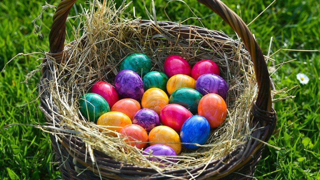 крашенные яйца, Пасха в Германии